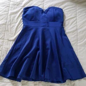 Seductions royal blue strapless dress sz L